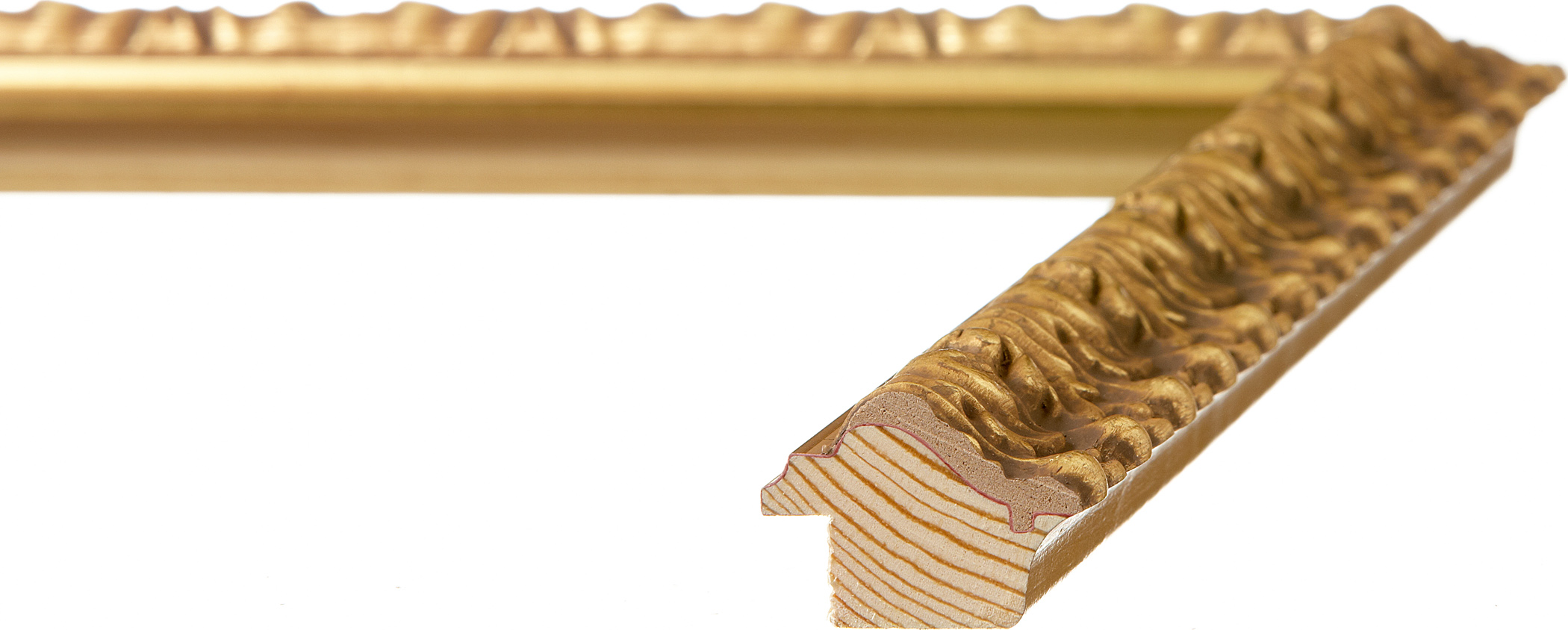 """#25855 - RO-Vintage, 1 1/2"""" Gold Leaf - Roma One - Roma Moulding - Picture  Frames Manufacturer"""