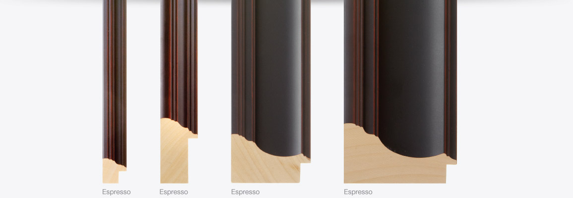 Ramino Finishes, Black and Gold, Black and Silver, Silver, Gold, Pewter, Espresso