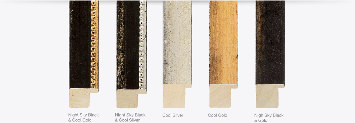 Palio Finishes, Night Sky Black & Cool Gold, Night Sky Black & Cool Silver, Cool Silver, Cool Gold, Nigh Sky Black & Gold