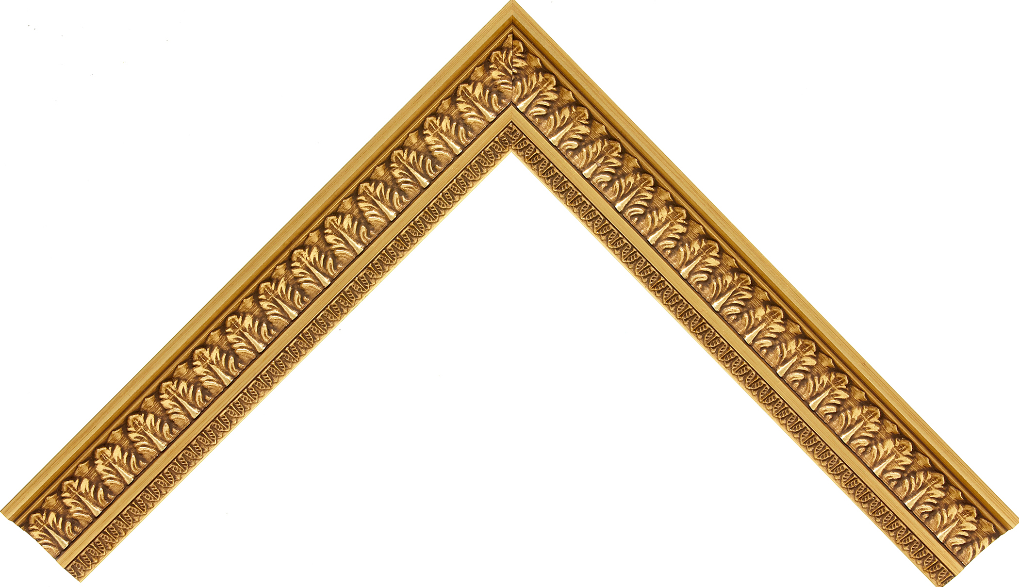 "#15255 - SR-Vintage, 1¼"" Gilded Gold Leaf - Simply Roma - Roma Moulding"