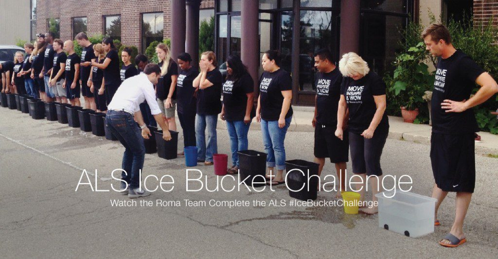The Roma Moulding Toronto Team take on the ALS Ice Bucket Challenge!