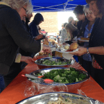 The Roma Leadership Team serves up lunch for family and friends.