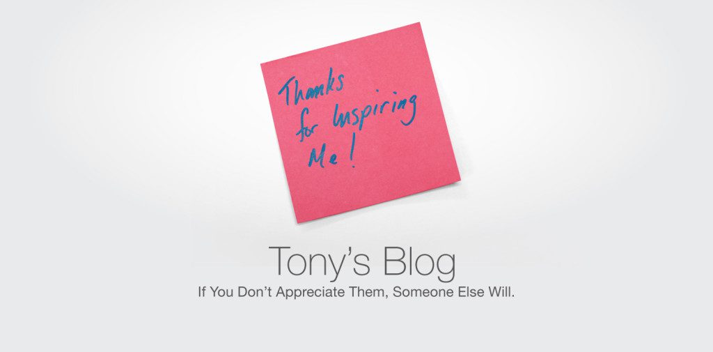 Check out Tony's latest blog on how to show appreciation to your team.
