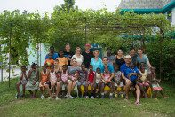 A group photo with the Roma Wish and HATS teams.