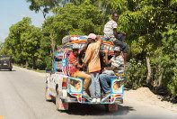 Driving from the airport in Port Au Prince to the HATS home base.