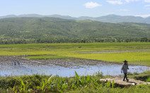 A view of the Haitian countryside.