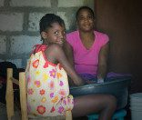 Roma Wish in Deschappelles observing Haitian girl power.