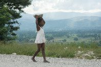A young Haitian girl in Deschappelles.
