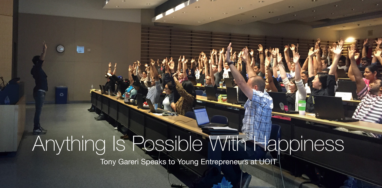 Tony Gareri Speaks To Young Entrepreneurs At Uoit Roma